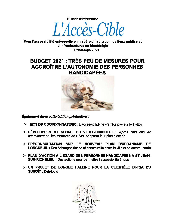 L'Accès-Cible Printemps 2021